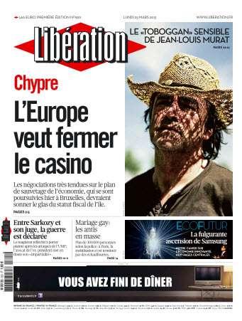 Libération Lundi 25 Mars 2013