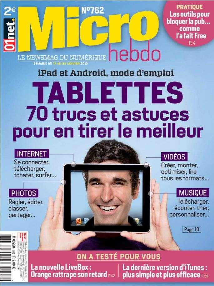 Micro Hebdo N°762 du 17 au 23 Janvier 2013
